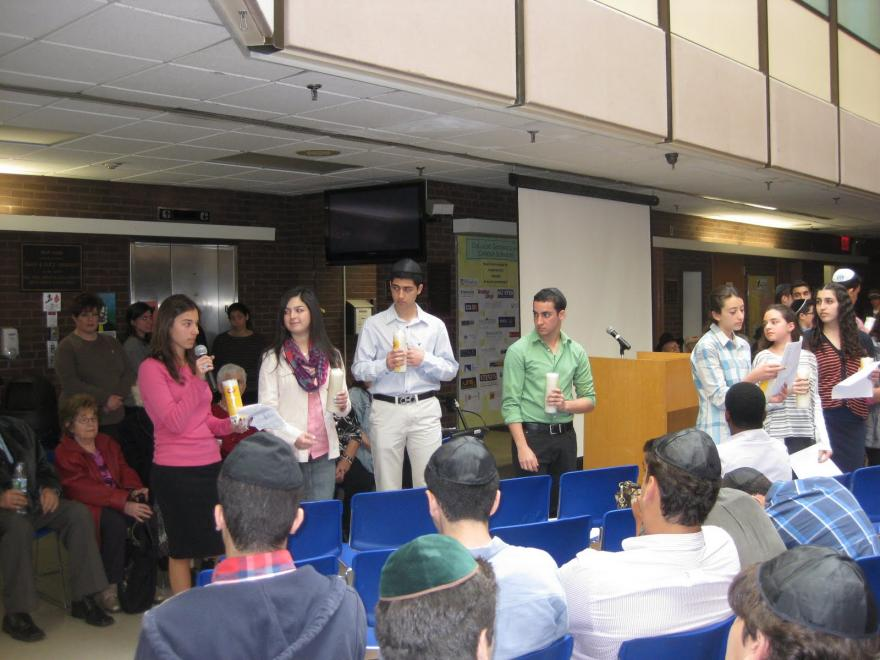 Yom Hashoa at Magen David Yeshiva HS - 4/20/2012